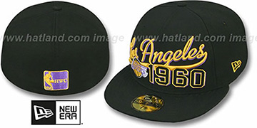 Lakers 'THE BEGINNING' Black Fitted Hat by New Era
