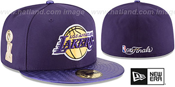 Lakers 'TROPHY-CHAMP' Purple Fitted Hat by New Era