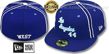 Lakers WEST TEAM-UP Royal Fitted Hat by New Era
