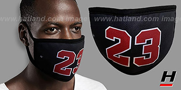 LAST DANCE 23 Black-Red Washable Fashion Mask by Hatland.com