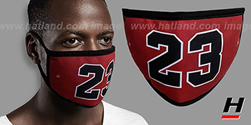 LAST DANCE 23 Red-Black Washable Fashion Mask by Hatland.com