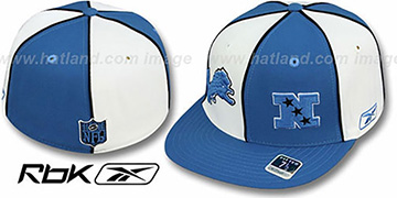 Lions  NFC DOUBLE LOGO White-Blue Fitted Hat by Reebok