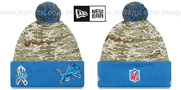 Lions '2015 SALUTE-TO-SERVICE' Knit Beanie Hat by New Era