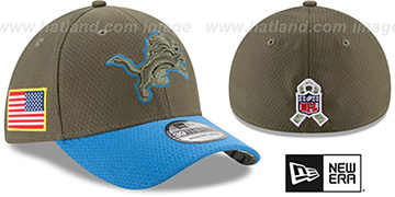 Lions 2017 SALUTE-TO-SERVICE FLEX Green-Blue Hat by New Era