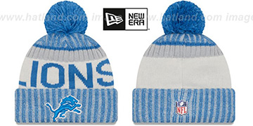 Lions 2017 STADIUM BEANIE Blue Knit Hat by New Era