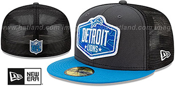 Lions 2021 NFL TRUCKER DRAFT Fitted Hat by New Era