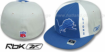 Lions AJD PINWHEEL Blue-Grey Fitted Hat by Reebok