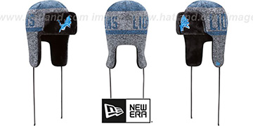Lions 'FROSTWORK TRAPPER' Blue Knit Hat by New Era