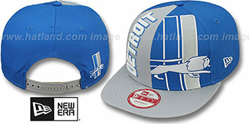 Lions NE-NC THROWBACK DOUBLE COVERAGE SNAPBACK Hat by New Era