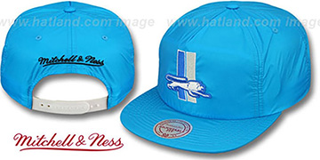 Lions NEON SNAPBACK Blue Hat by Mitchell & Ness