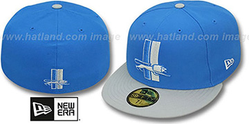 Lions NFL 2T THROWBACK TEAM-BASIC Blue-Grey Fitted Hat by New Era