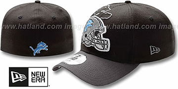 Lions NFL BLACK-CLASSIC FLEX Hat by New Era