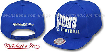 Lions NFL-BLOCKER SNAPBACK Blue Hat by Mitchell and Ness