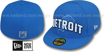 Lions NFL ONFIELD DRAFT Blue Fitted Hat by New Era