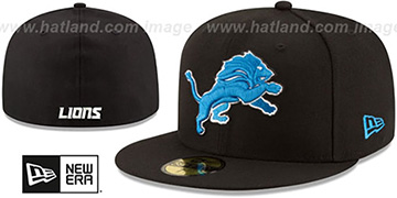 Lions NFL TEAM-BASIC Black Fitted Hat by New Era