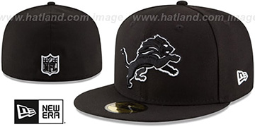 Lions NFL TEAM-BASIC Black-White Fitted Hat by New Era