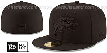 Lions NFL TEAM-BASIC BLACKOUT Fitted Hat by New Era