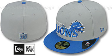 Lions NFL-TIGHT Grey-Blue Fitted Hat by New Era
