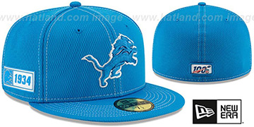 Lions ONFIELD SIDELINE ROAD Blue Fitted Hat by New Era