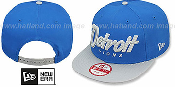Lions SNAP-IT-BACK SNAPBACK Blue-Grey Hat by New Era