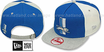 Lions TB 'TRIPLE MELTON STRAPBACK' Blue-White-Grey Hat by New Era