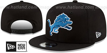 Lions 'TEAM-BASIC SNAPBACK' Black Hat by New Era