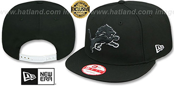 Lions TEAM-BASIC SNAPBACK Black-White Hat by New Era