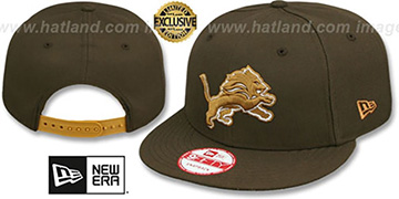 Lions TEAM-BASIC SNAPBACK Brown-Wheat Hat by New Era