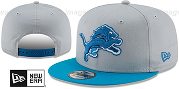 Lions TEAM-BASIC SNAPBACK Grey-Blue Hat by New Era