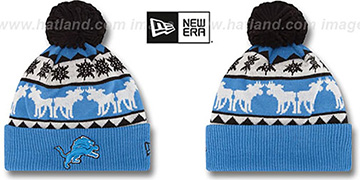 Lions THE-MOOSER Knit Beanie Hat by New Era
