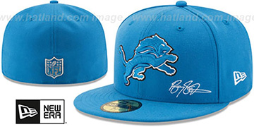 Lions THROWBACK SANDERS STATS Blue Fitted Hat by New Era