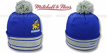 Lions XL-LOGO BEANIE Blue by Mitchell and Ness