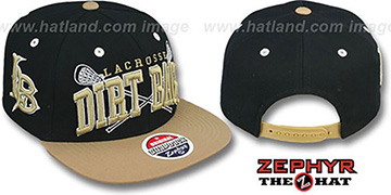 Long Beach 'LACROSSE SUPER-ARCH SNAPBACK' Black-Tan Hat by Zephyr