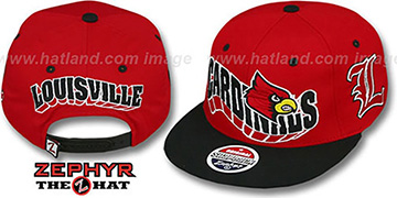 Louisville '2T FLASHBACK SNAPBACK' Red-Black Hat by Zephyr