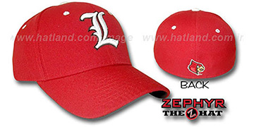Louisville DH Fitted Hat by ZEPHYR - red