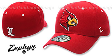 Louisville 'DHS' Red Fitted Hat by Zephyr