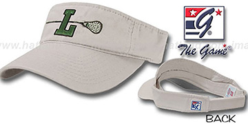 Loyola LACROSSE Visor by the Game - stone