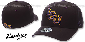 LSU 'DH' Fitted Hat by ZEPHYR in black