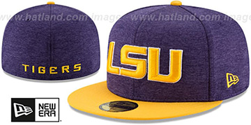 LSU HEATHER-HUGE 2 Purple-Gold Fitted Hat by New Era