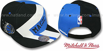 Magic '1-ON-1 SNAPBACK' Black-White-Blue Hat by Mitchell & Ness