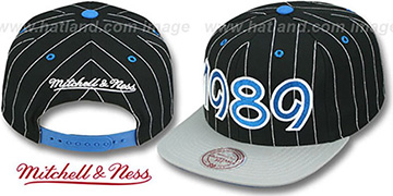 Magic '1989 INAUGURAL SNAPBACK' Black-Grey Hat by Mitchell & Ness