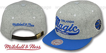 Magic 2T TAILSWEEPER STRAPBACK Grey-Blue Hat by Mitchell & Ness