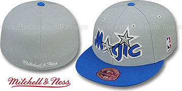 Magic 2T XL-LOGO Grey-Royal Fitted Hat by Mitchell & Ness