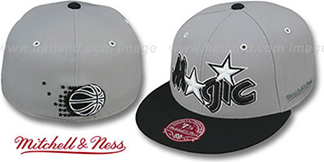 Magic 2T XL-WORDMARK Grey-Black Fitted Hat by Mitchell & Ness