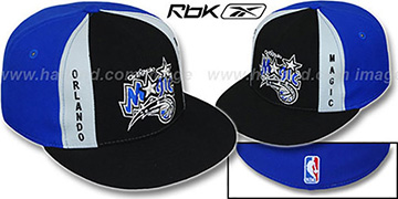 Magic AJD PINWHEEL Black-Royal Fitted Hat by Reebok