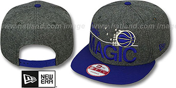 Magic 'FLANNEL SNAPBACK' Grey-Royal Hat by New Era