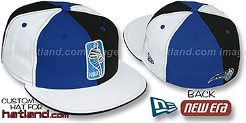 Magic 'KEY-INSIDER PINWHEEL' Royal-Black-White Fitted Hat