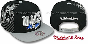 Magic 'LASER-STITCH SNAPBACK' Black-Grey Hat by Mitchell & Ness