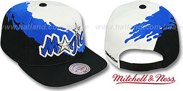Magic 'PAINTBRUSH SNAPBACK' White-Blue-Black Hat by Mitchell & Ness
