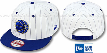 Magic 'PINSTRIPE BITD SNAPBACK' White-Royal Hat by New Era